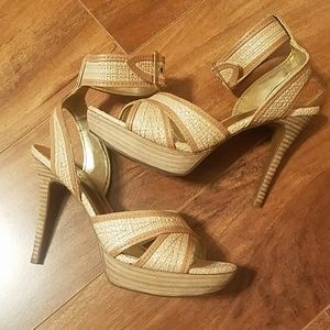 Guess rattan summer high heel sandals